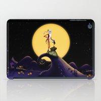 jack skellington iPad Cases featuring Christmas Nightmare Jack Skellington by Inara