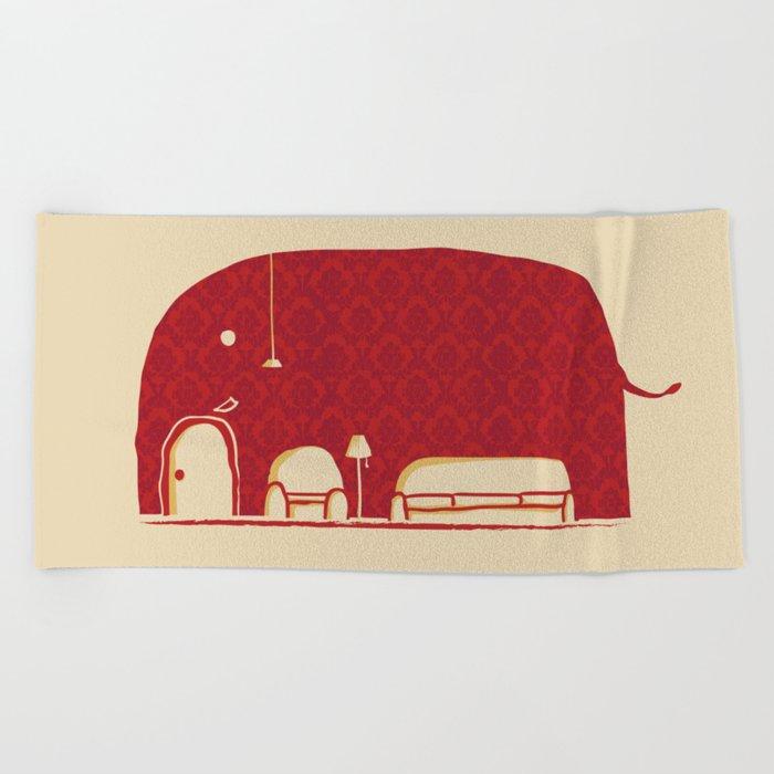 Elephanticus Roomious Beach Towel