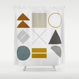 Mid West Geometric 02 Shower Curtain
