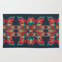 cyberpunk Area & Throw Rugs featuring Summer Calaabachti Heart by Obvious Warrior