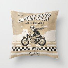 CAPTIAN RACER Throw Pillow