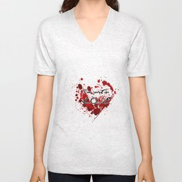 I'm Just In Love Heart Splatter Unisex V-Neck