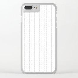 Сonor McGregor - Fuck You - Black Pin Stripe Design Clear iPhone Case