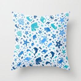 Sea life pattern Throw Pillow