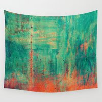 metal Wall Tapestries featuring Vintage Metal by Patterns and Textures