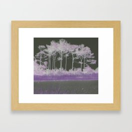 Tranquility in Shades of Lavender Framed Art Print