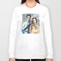 mulder Long Sleeve T-shirts featuring Mulder and Scully by Tatiana Anor