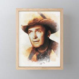 James Stewart, Movie Legend Framed Mini Art Print