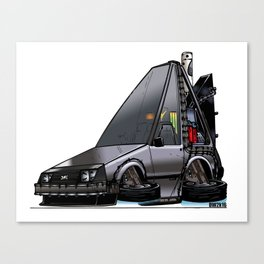 Back To The Future Part 2 - DeLorean Time Machine Canvas Print