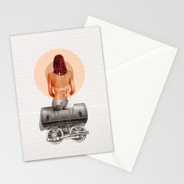Traveling with loneliness Stationery Cards
