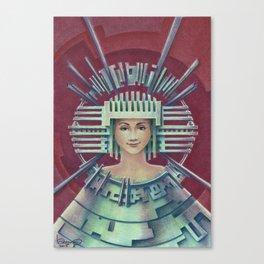"""""""Portrait with silver chullo"""" Canvas Print"""