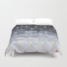 Blue Hexagons And Diamonds Duvet Cover