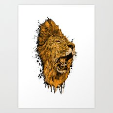 Golden Lion Art Print