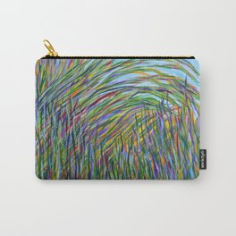 Tropical Green Abstract, Seagrass Color Study, Contemporary Colorful Home Decor Carry-All Pouch