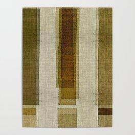 """Burlap Texture Greenery Columns"" Poster"
