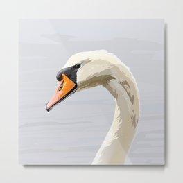 Elegance: Swan Metal Print