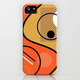 Opposing Sides - Abstract, orange and mustard, geometric, contrasting design iPhone Case