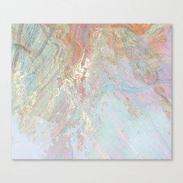 Pastel unicorn marble Canvas Print