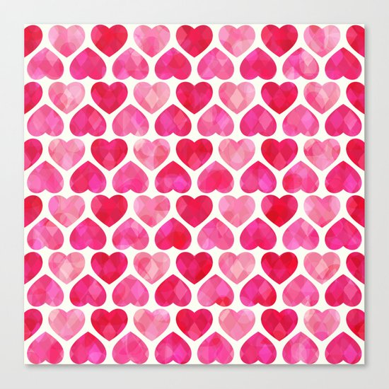 RUBY HEARTS Canvas Print