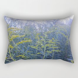 Blue Goldenrod Rectangular Pillow