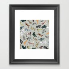 Marble Cats Framed Art Print