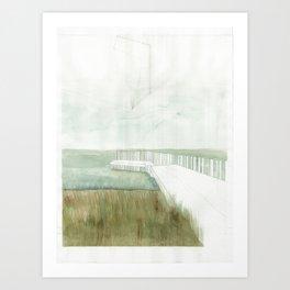 the dock Art Print