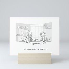 Dog Scientists Mini Art Print