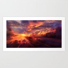 Red Radiance Art Print