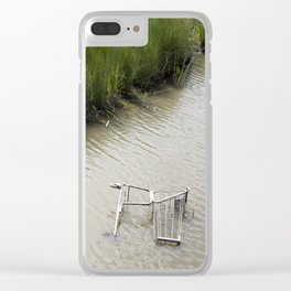 Shop 'till you Drown Clear iPhone Case
