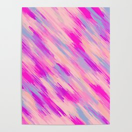 pink purple and blue painting abstract background Poster