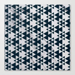 Southwestern Triangle Design over White Grey Marble Canvas Print