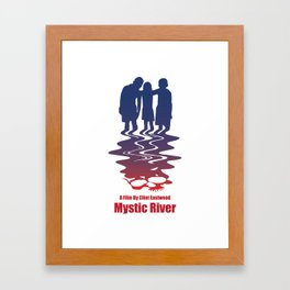 mystic river Framed Art Print