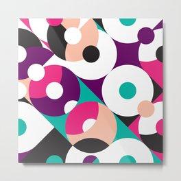Retro geometric abstract pattern design Metal Print