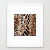 safari Framed Art Prints featuring Safari by Colorful Art