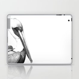 Black and White Pelican Laptop & iPad Skin