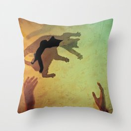 catch pussy game Throw Pillow