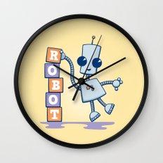 Ned's Blocks Wall Clock