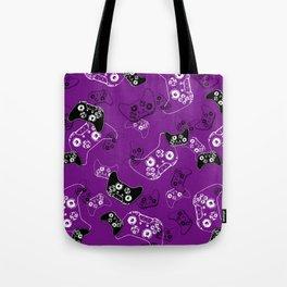 Video Game Purple Tote Bag