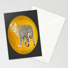 Gold Leopard's Gonna Tell Me Where The Light Is Stationery Cards
