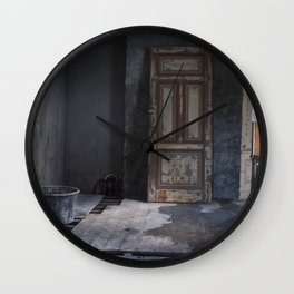 A Door to Nowhere Wall Clock