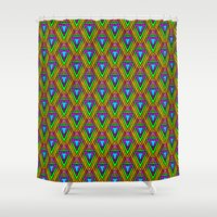 trippy Shower Curtains featuring trippy pattern by westchestrian_art
