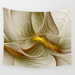 Abstract With Colors Of Precious Metals, Fractal Art Wall Tapestry