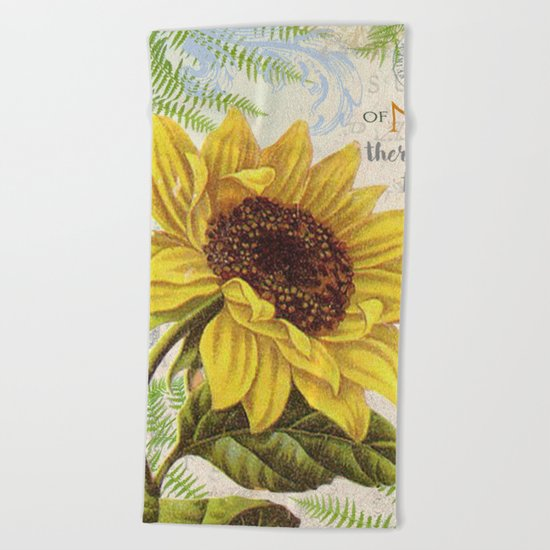 Vintage Flower #22 Beach Towel