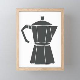 Kitchen Tools (black on white) Framed Mini Art Print