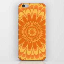 Summer In Full Bloom - Orange Mandala iPhone Skin