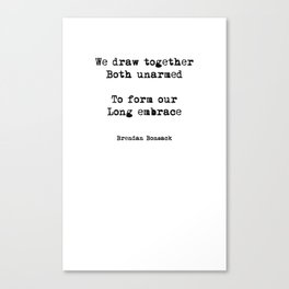 Draw Together Canvas Print