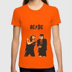 AC/DC SMALL Orange Womens Fitted Tee
