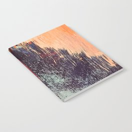 Night and Day: pretty abstract piece in orange, purple, and blues Notebook