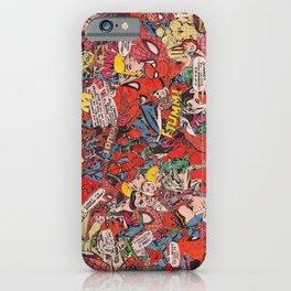 Spiderman comic book collage iPhone Case