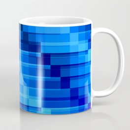 Buildings At Night In Blue Modern Abstract Coffee Mug